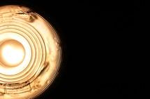 lightbulb in a lamp