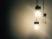 Three pendant lights.