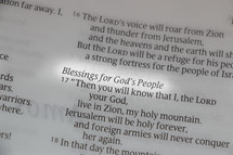 Blessings for God's people