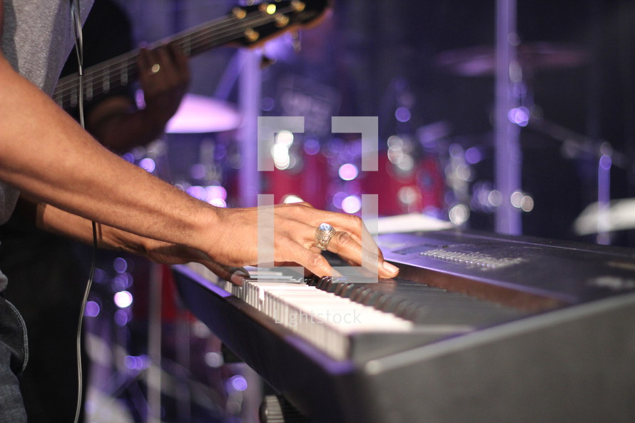 playing a keyboard