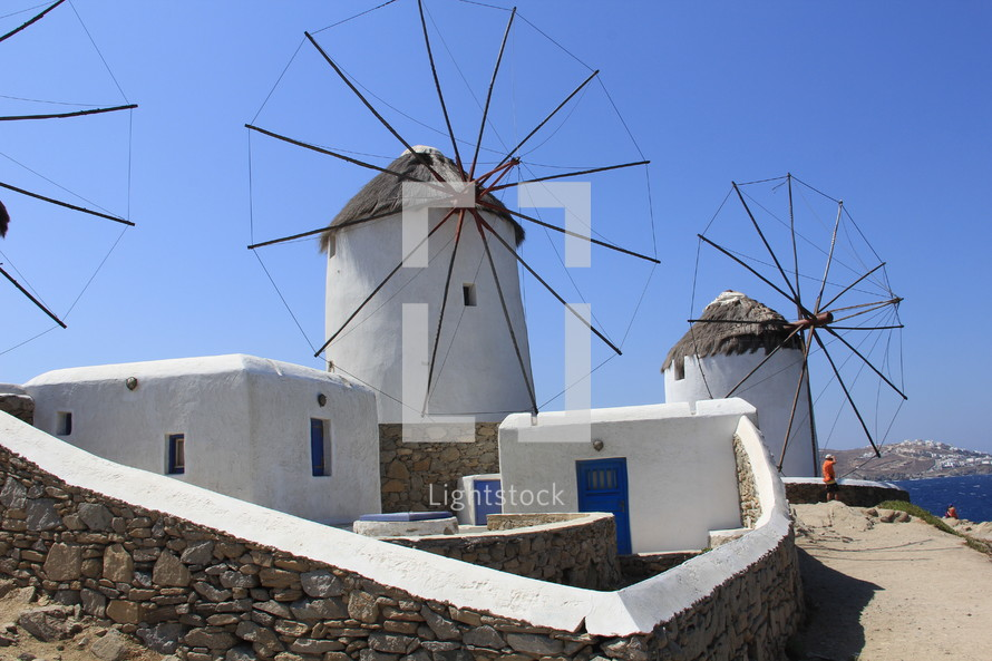 Greek wind mill used for grinding wheat