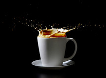 Splash in a cup of coffee.