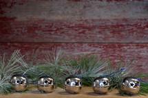 Christmas bells and greenery