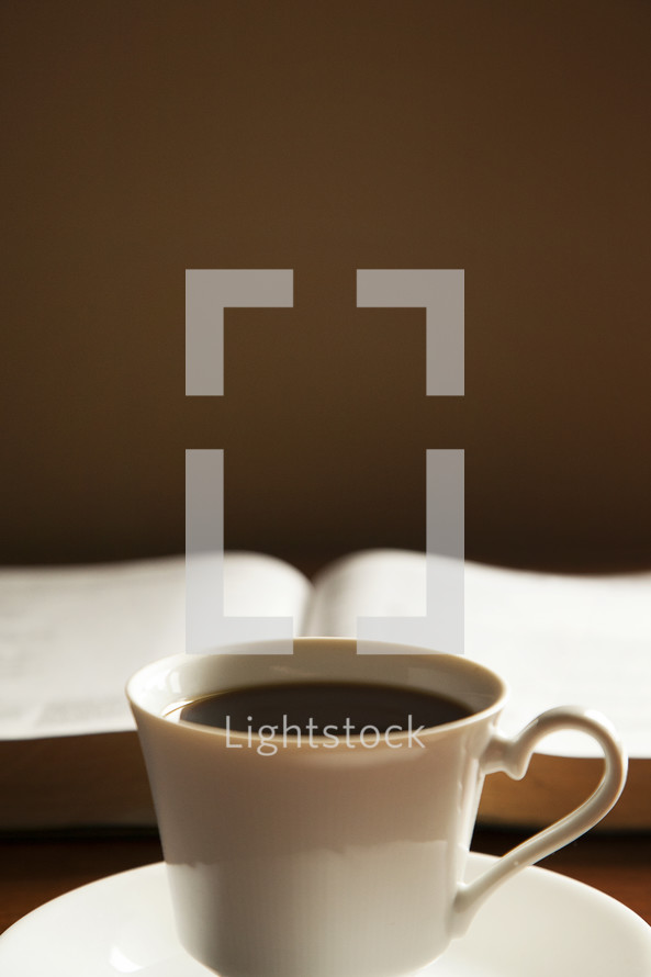 morning devotional, coffee cup and Bible