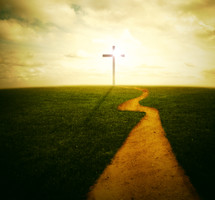 A path leading to the cross.