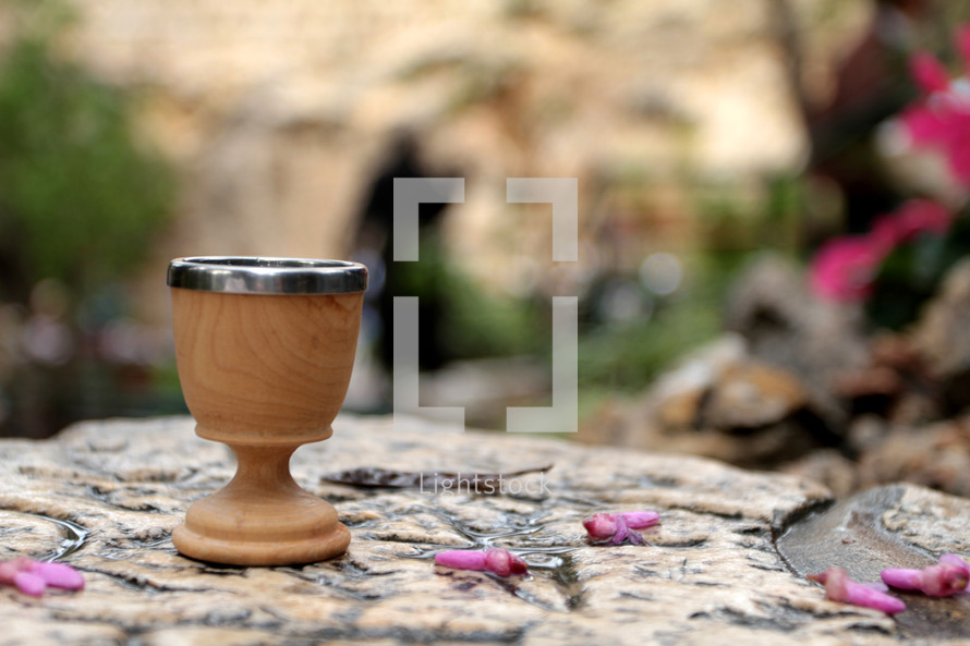 Communion Cup at the Garden Tomb in Israel