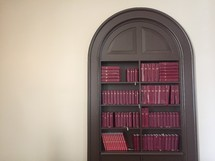 books on a bookshelf in Scotland
