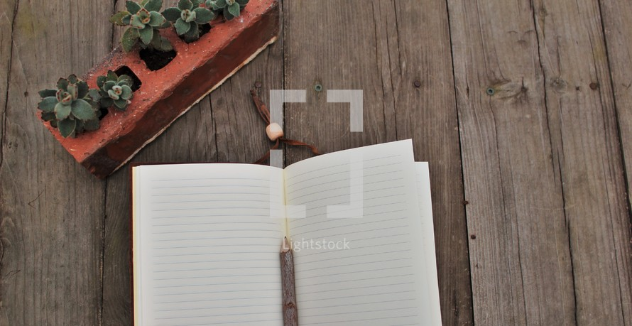 stick on blank pages of a journal