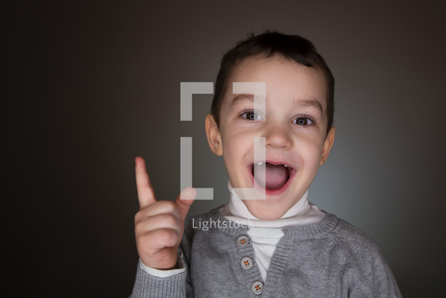 excited boy
