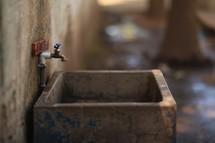 spigot over a sink