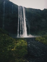 waterfall off the side of a cliff
