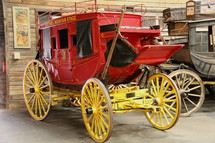 carriages in a carriage house