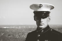 marine in dress blues