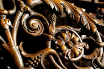 ornate wood carvings
