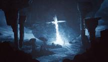 A bright cross shining even in an alien world.