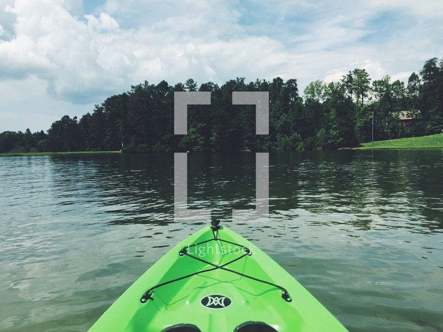 bow of a kayak