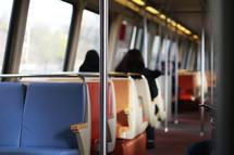 interior of a subway train