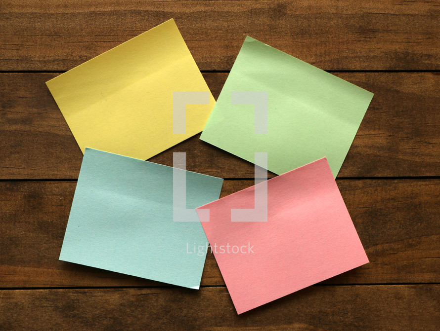 four post-it notes