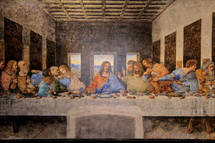 The Last Supper mural painting