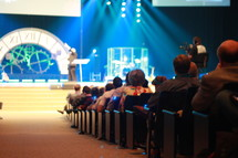 congregation at a worship service