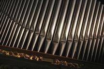 Organ pipes from a classical church organ