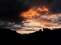 Vivid sunset.