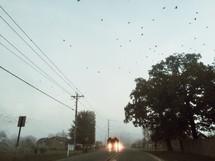 headlights on a school bus