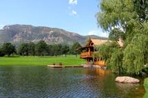mountain view lake house