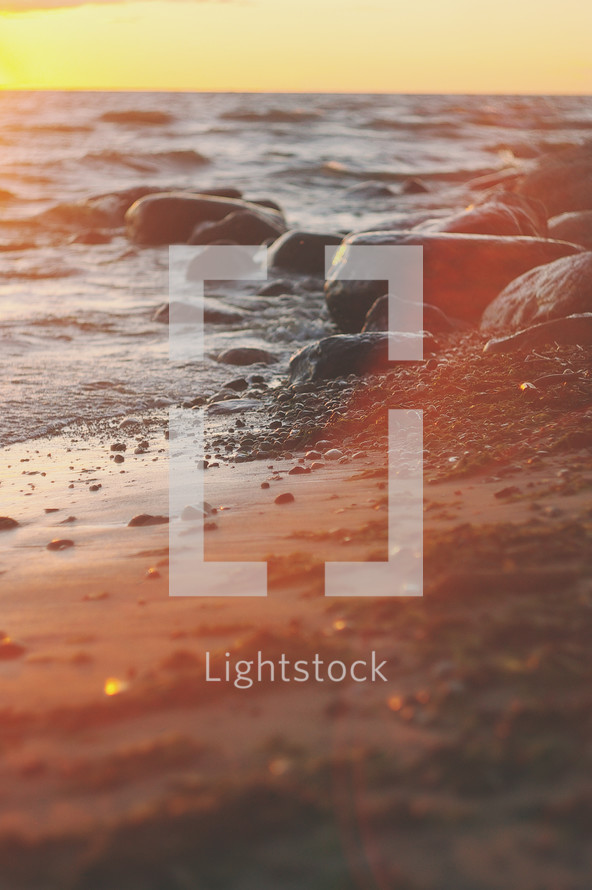 sunlight on a beach