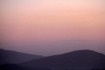 Hazy hills.