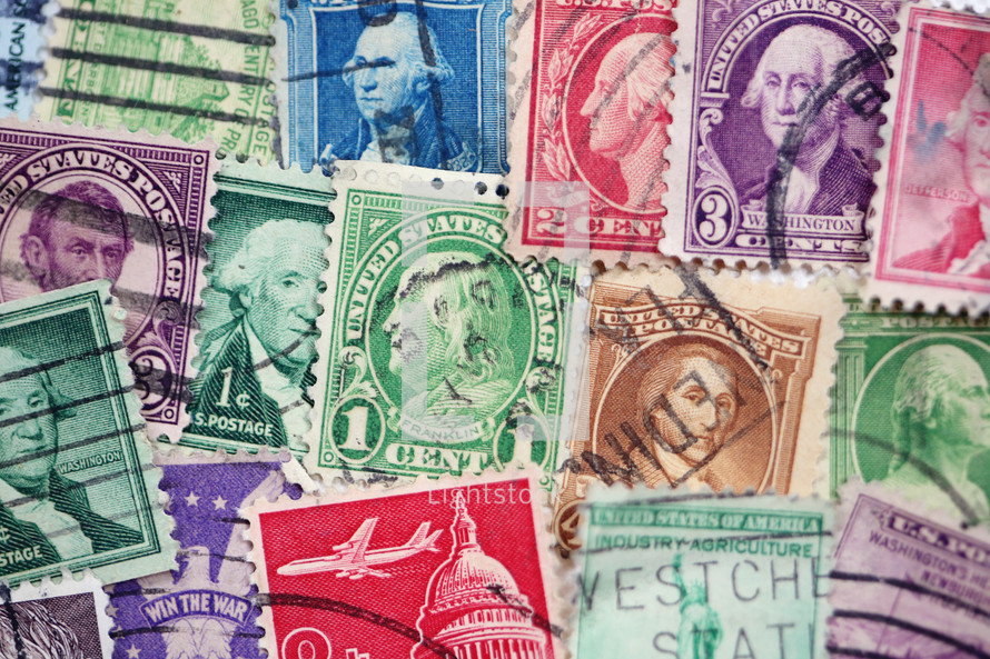colorful postage stamps background photo by kay english lightstock