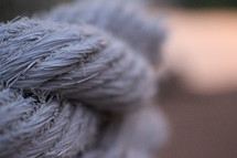 Close-up view of a rope.