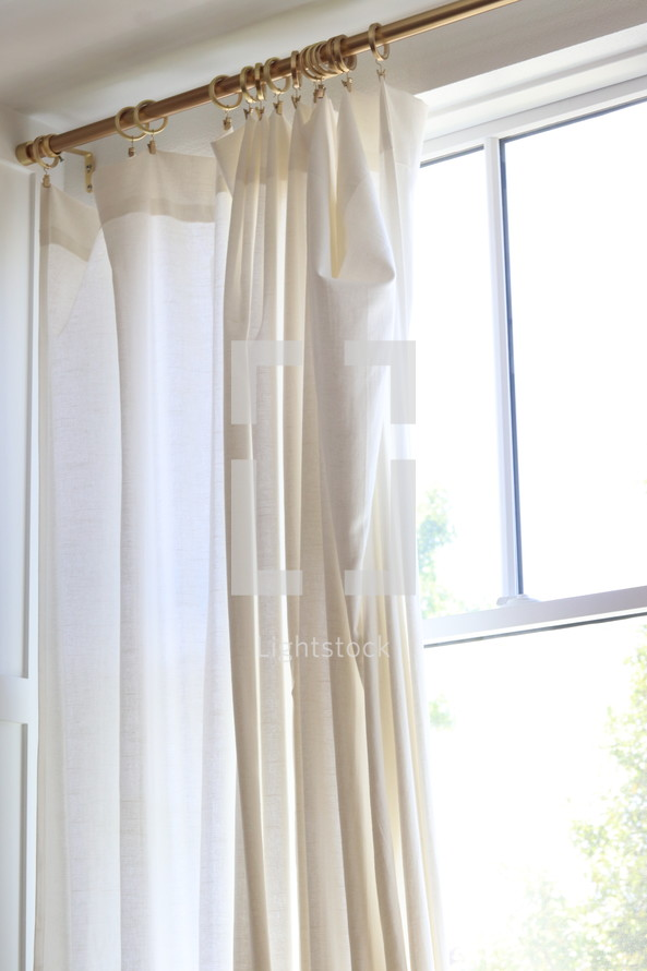 curtain panel in a window