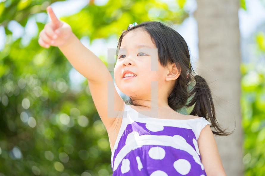 pointing child