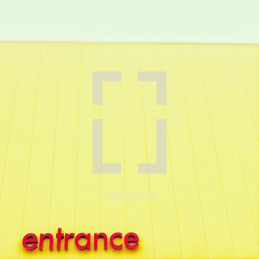 Entrance store sign