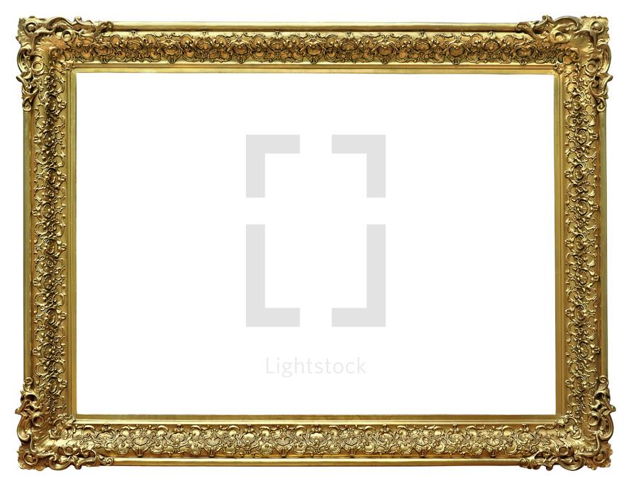 Gold frame.