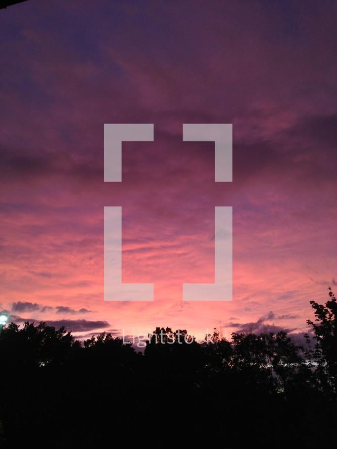purple clouds at dusk
