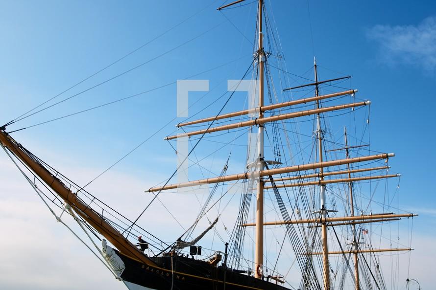 masts on a ship