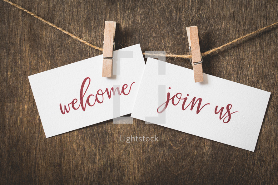 welcome, join us