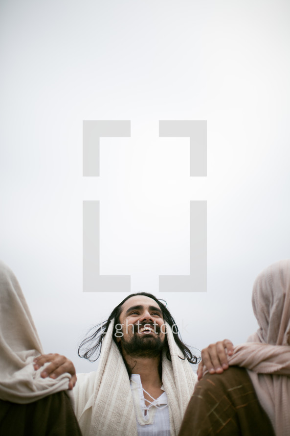Jesus sharing joy with His disciples.