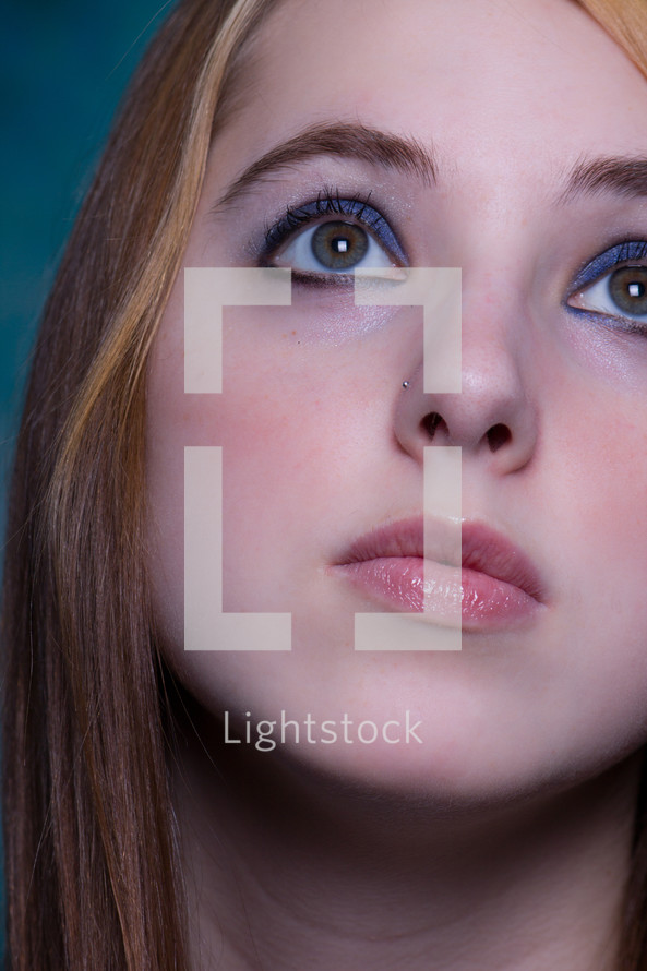 eyes of a teen girl