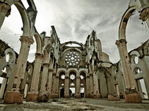 a church in ruins