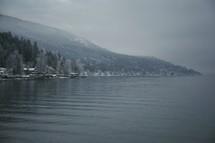 A winter shoreline
