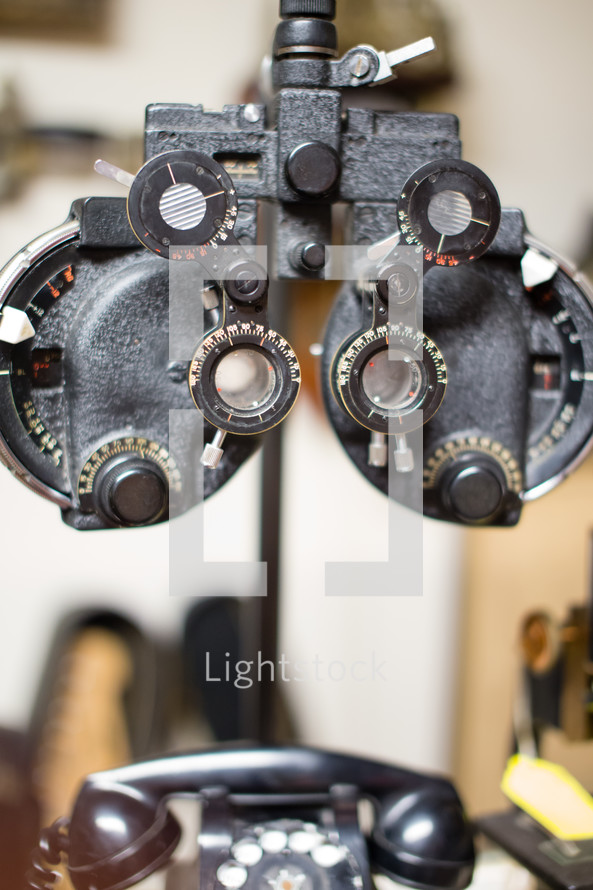 Optometrists office.