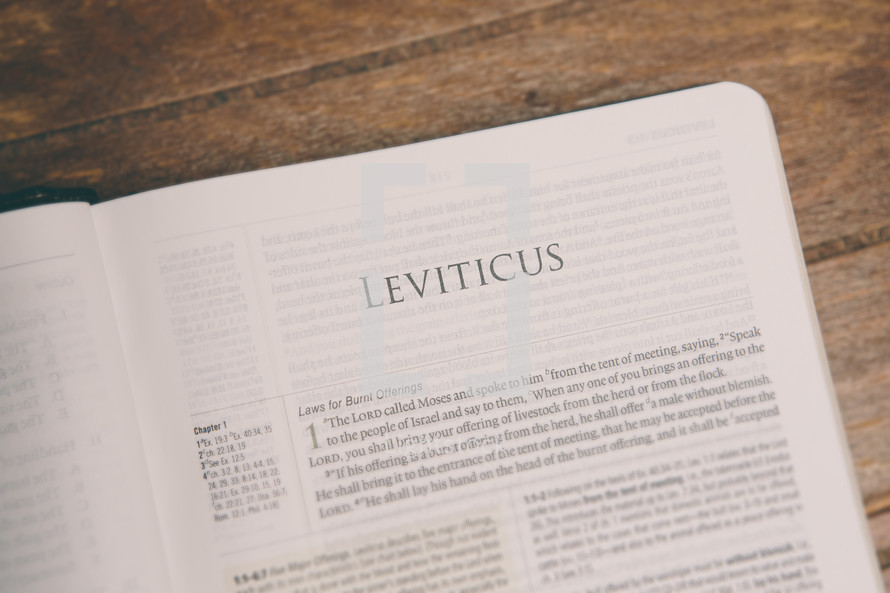 Bible opened to Leviticus