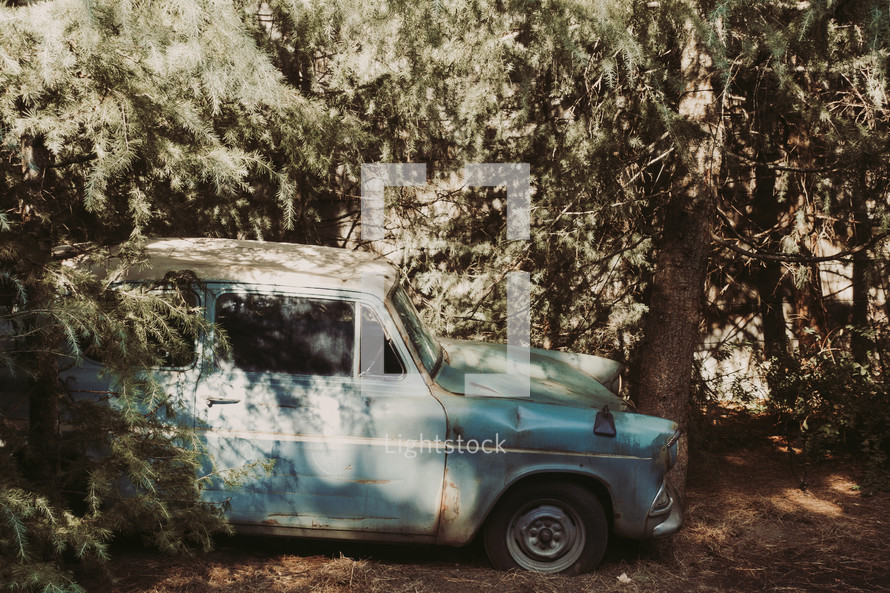 Abandoned Car In The Woods Photo By Who Is Like The Lord Lightstock