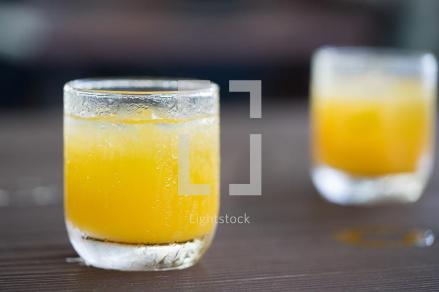 orange juice glasses
