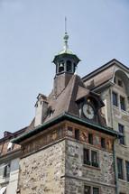 clock tower in Switzerland