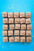advent calendar presents