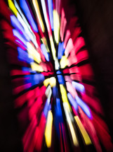 light shining through a stained glass window
